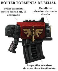 Arma pistola bolter belial