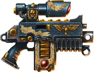 Arma pistola bolter ultramarine