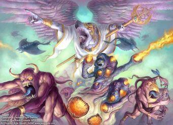 Caos Tzeentch y demonios wikihammer