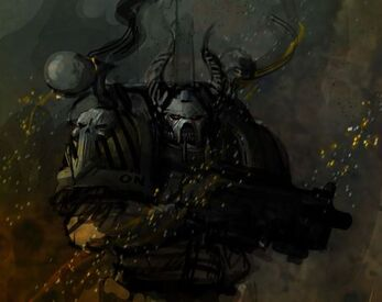Caos guerreros de hierro casco astado