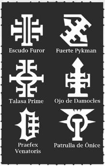 Deathwatch simbolos fortalezas