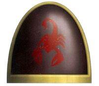 Escorpiones Rojos Emblema Hombrera Marines Espaciales Astartes Wikihammer