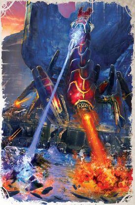 Caos escorpion de bronce en combate