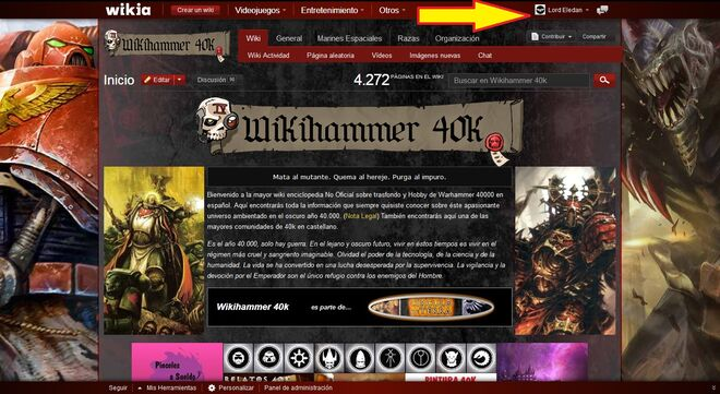 Hacer Crear un Blog Wikia wikihammer 1
