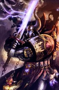 Hechicero del Caos con Espada Demoniaca