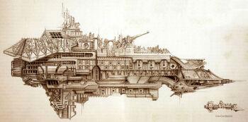 Tribuno Acorazado clase Victoria Puños Imperiales Forge World ilustración
