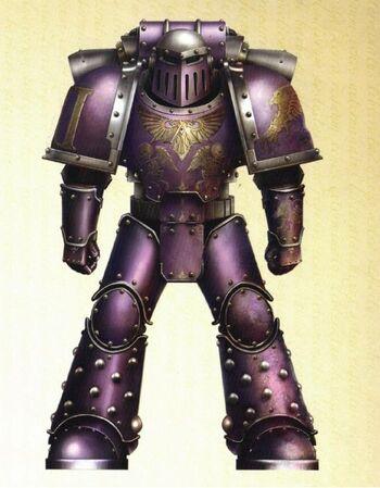 Hijos del Emperador Servoarmadura Mark III Hierro Esquema Preherejia Gran Cruzada Wikihammer