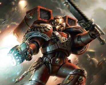 Marine angel sangriento escuadra asalto arma plasma