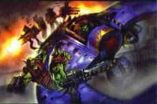 Serpiente Zakeado Orkos Warhammer 40,000 CCG ilustración