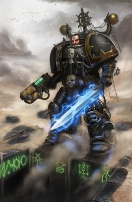 Caos Guerrero de hierro ante tumba necrona 2