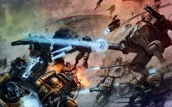 Guadañas del Emperador vs Armaduras de Combate Tau Cruzada de Damocles
