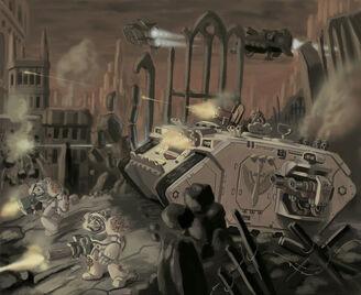 Land raider ala de la muerte