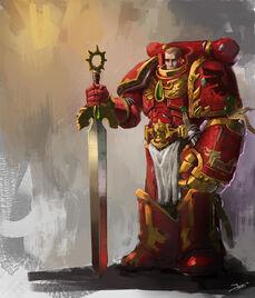 Angel sangriento con espada