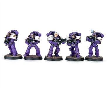 Escuadra de Combate Táctica servoarmadura Mk IV Maximus Hijos del Emperador