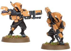 Rastreadores tau con rifle ionico