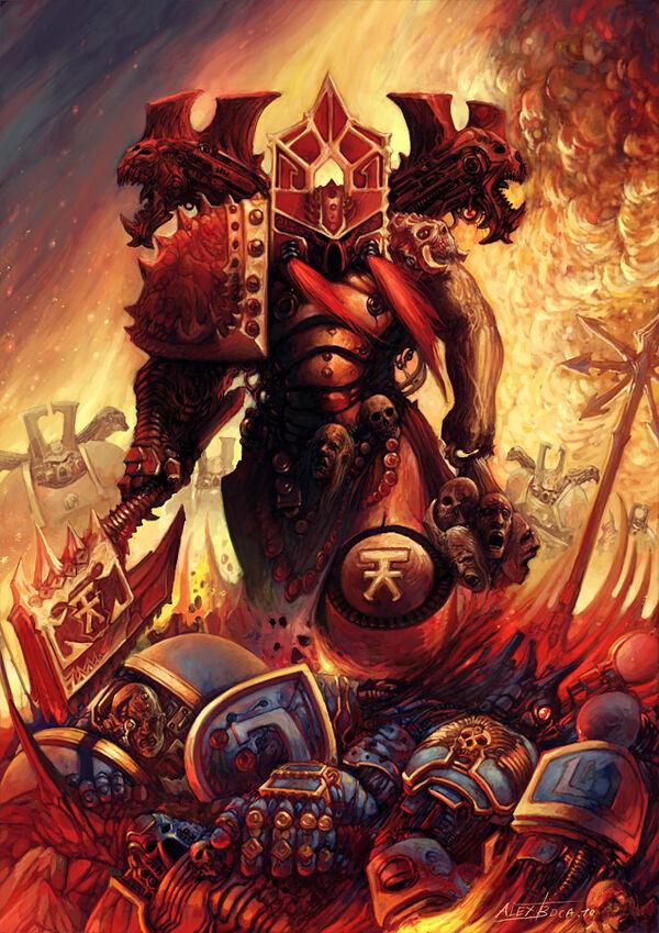 Caos marine berserkers khorne batalla craneos