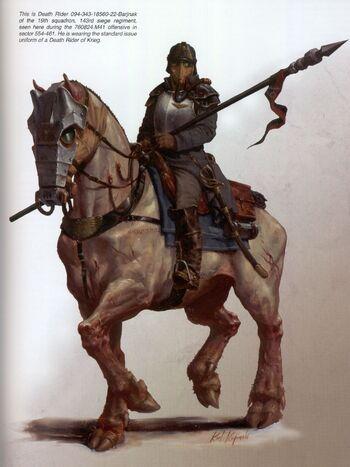 Jinete de la Muerte 094-34318560-22-Barjnak Krieg Vraks Guardia Imperial Karl Kopinski ilustración