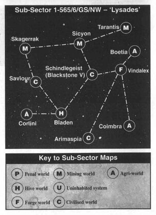 Mapa subsector Lysades