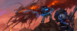 Guardianes de la tormenta devastadores destruyendo nave