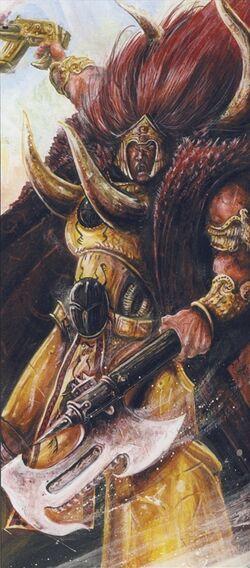 Magnus el Rojo John Blanche boceto