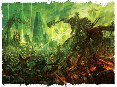 Necrones vs demonios khorne