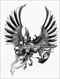 Swooping hawk