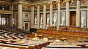 Interior of the Federal Assembly of the Austrian Parliament 01