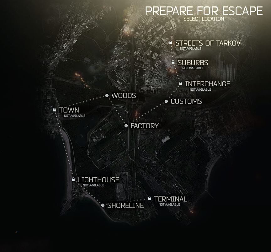 Mapas | Escape From Tarkov En Español Wiki | FANDOM powered by Wikia