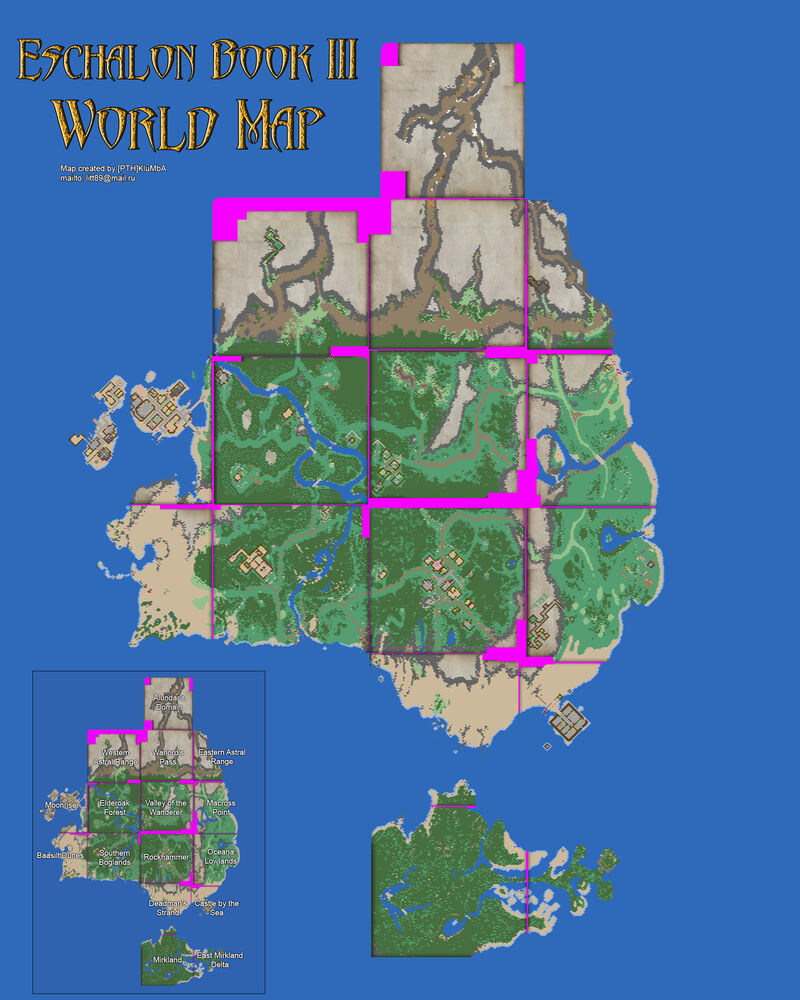 Eschalon book 3 world map
