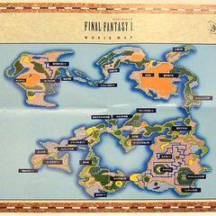<small><center>Mapa de <i>Final Fantasy</i> desplegado</center> </small>