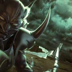 Cecil como Caballero Oscuro en la secuencia de <i>Dissidia 012</i>