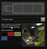 Interior del color negro para el COM