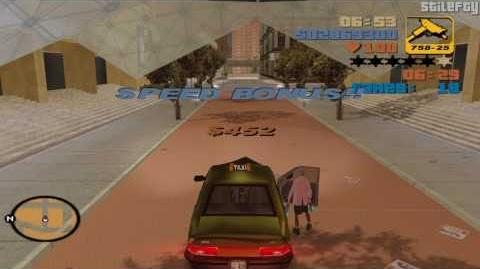 GTA 3 - Taxi Driver (1080p) 100 Fares