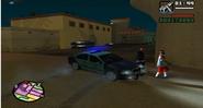 Auto de la policía Federal Argentina