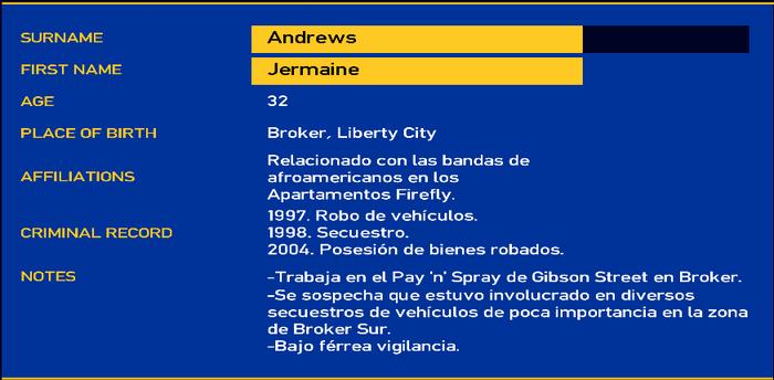 Jermaine andrews LCPD