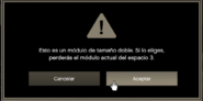 Advertencia sobre el módulo del espacio 3