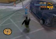 Claude robando el Securicar en Van Heist