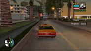 Taxista VCS siguiendo a un coche