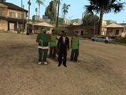 CJ despues de pasarse el juego con los grove street