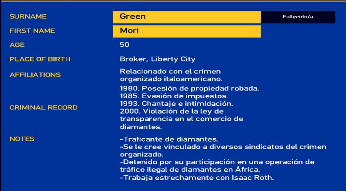 Mori green LCPD