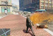 Michael quemando gente