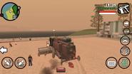CJ matando gente con el Combine Harvester