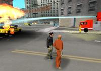 Claude junto a 8-ball y un camion de bomberos Beta