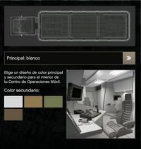 Interior del color blanco para el COM