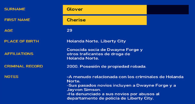 FichaCheriseGlover