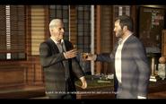 Solomon y Michael brindando
