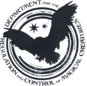 Logo del Departamento de Regulación y Control de Criaturas Mágicas