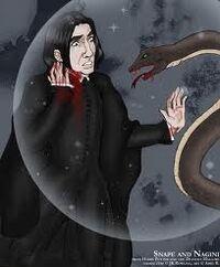 Snape muere a manos de nagini