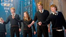 Fred, George,Ginny y Ron