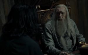 Dumbledore acuerda su muerte con Snape